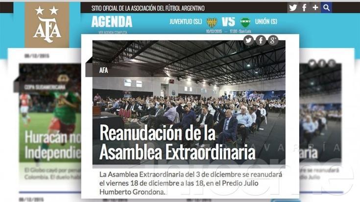 Es oficial: Luis Segura decretó que las elecciones en la AFA serán el 18 de diciembre