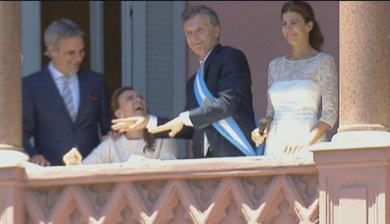 Macri bailó en el balcón de la Rosada y Michetti cantó una canción de Gilda
