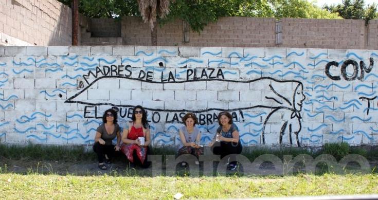 Restauraron un mural de Madres que había sido dañado