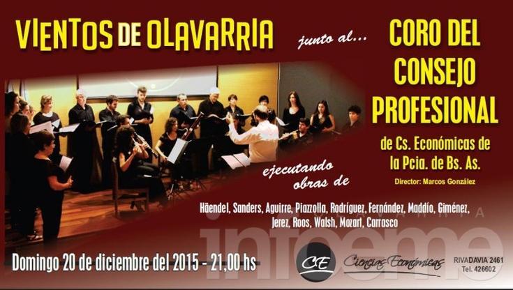 """""""Vientos de Olavarría""""  cierra la temporada con el concierto de fin de año"""
