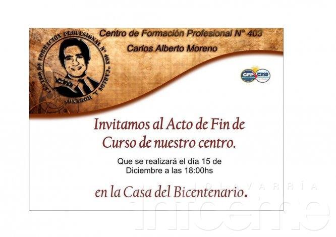 """Acto de colación del CFP """"Carlos Moreno"""""""
