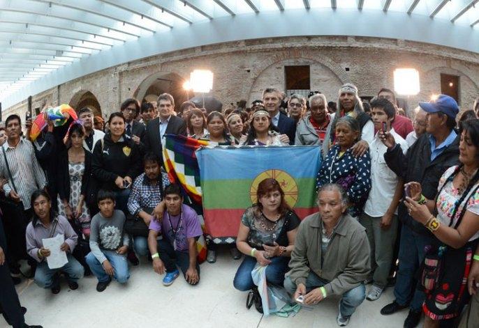 Los Qom lograron ser recibidos en la Casa Rosada