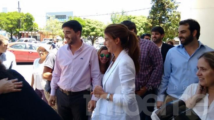 Juliana Awada y la Ministra de Desarrollo Social llegaron a Olavarría