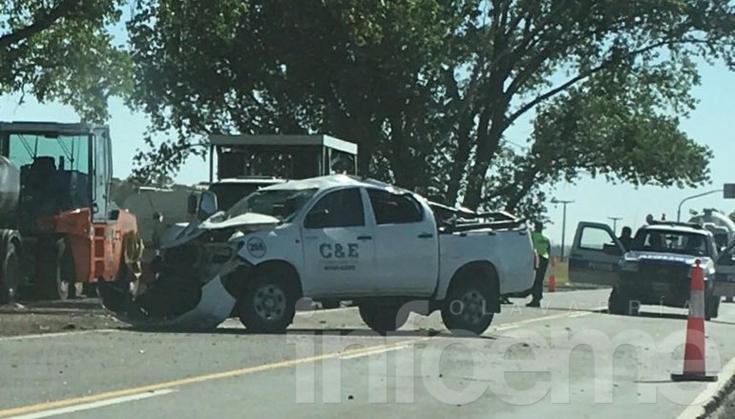 Fuerte accidente en Puente Querandíes, tres personas heridas