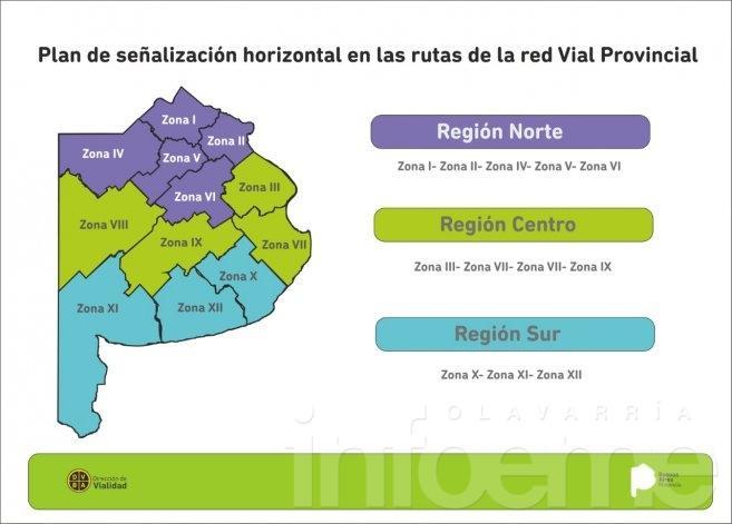 Señalización Horizontal de Rutas Provinciales
