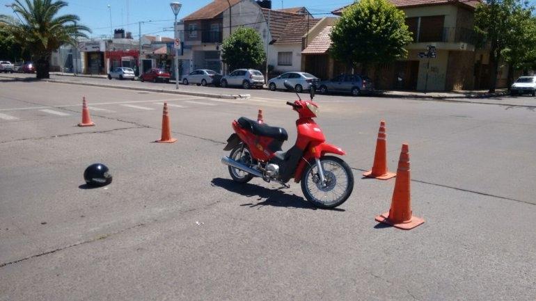 Otro motociclista herido en un choque