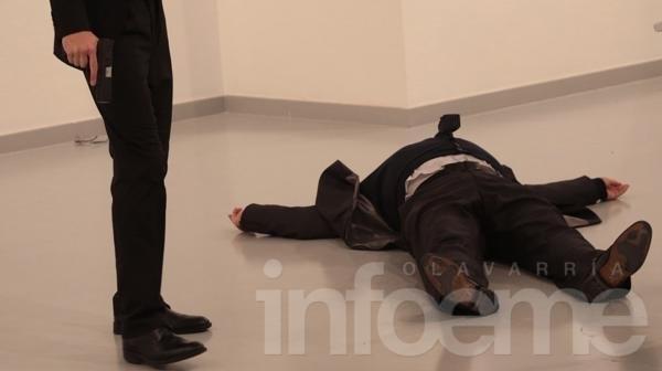Video: asesinaron al embajador ruso en Turquía