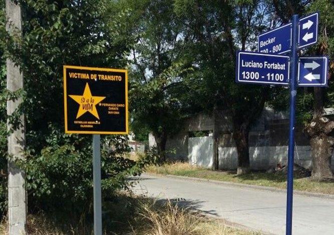 Estrellas Amarillas: nuevos carteles recuerdan a víctimas de tránsito