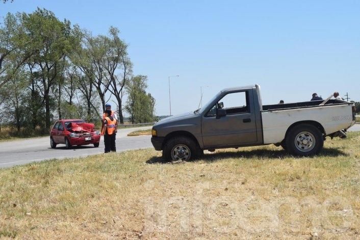 Accidente: dos vehículos chocaron en la Ruta 226