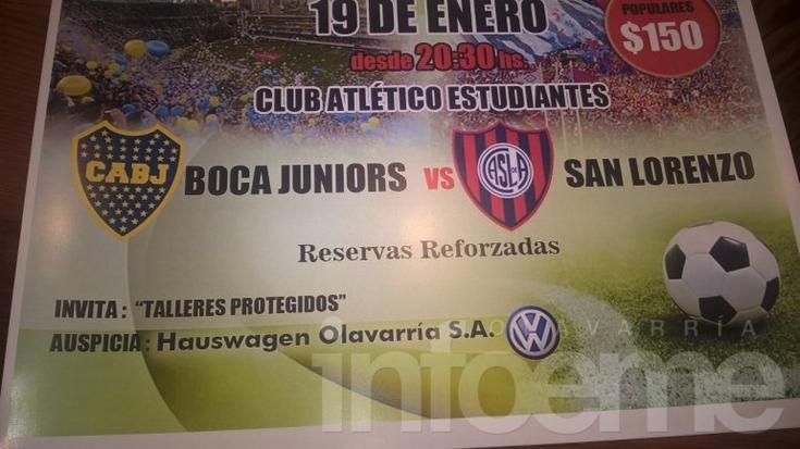 Boca vs. San Lorenzo en Olavarría