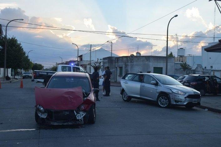 Triple choque en San Vicente
