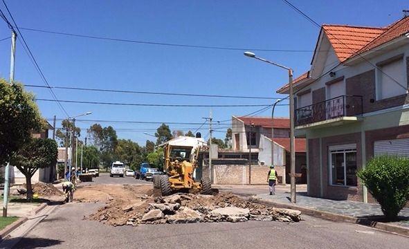Repavimentación de calles en barrio San Vicente