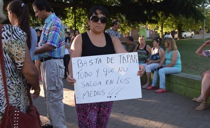 Vecinos de Sierras Bayas se movilizaron contra la inseguridad