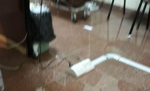 La lluvia provocó inconvenientes en el Hospital