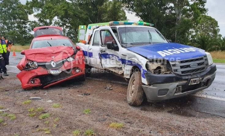 Fuerte choque en Ruta 3 con varios heridos