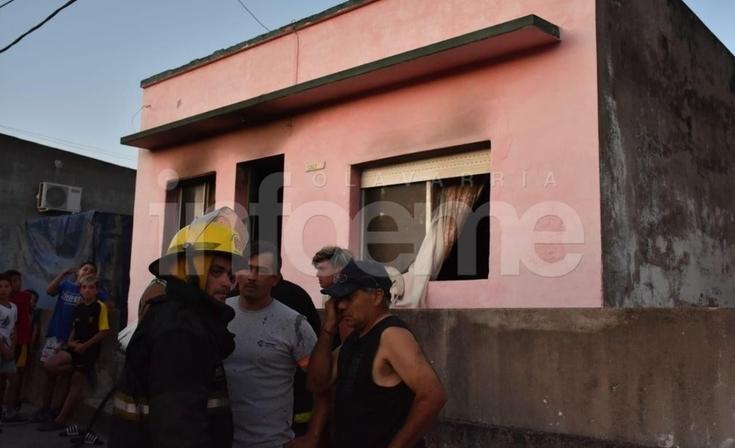 Importantes pérdidas en el incendio de una vivienda en Sierras Bayas