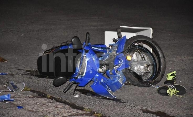 Motomandado sufrió heridas de consideración tras un violento choque