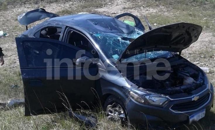 Cuatro heridos en vuelco sobre la Ruta Provincial 76