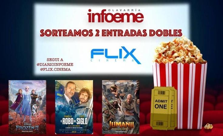 Ganate dos pares de entradas para Flix Cinema