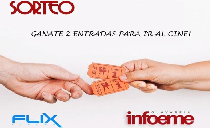 Participá por dos pares de entradas para ir a Flix Cinema Olavarría