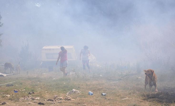 Incendio de pastizales puso en riesgo una vivienda