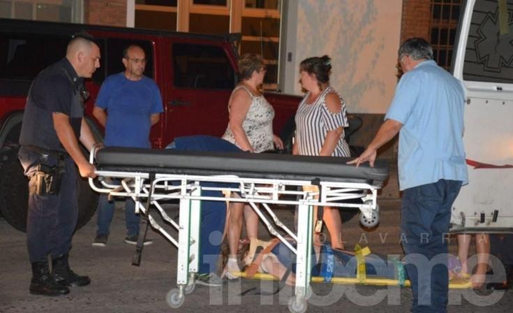 Accidente en pleno centro: una mujer fue atropellada y trasladada al Hospital
