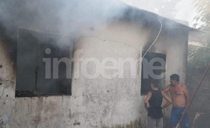 Un herido de consideración y pérdidas totales en voraz incendio de vivienda