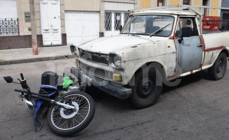 Policía resultó herida tras un accidente