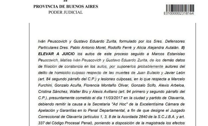 Indio en Olavarría: la causa irá a juicio y piden investigar a funcionarios
