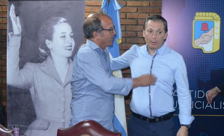 Germán Aramburu en un encuentro con el presidente del PJ