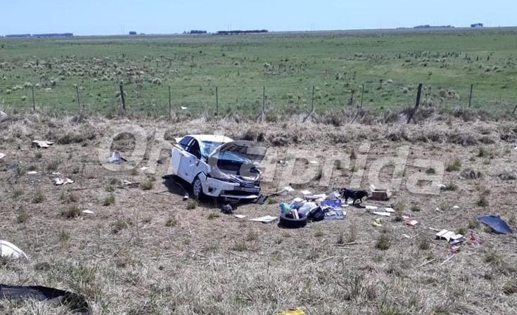 Ruta 51: fuerte accidente a la altura de Laprida