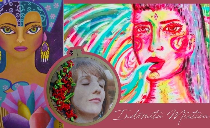 Muestra de pinturas y fotobordado en Macondo