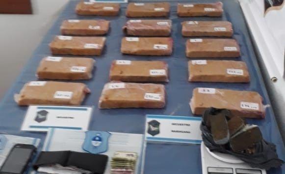 Parish: estiman que la droga secuestrada tendría un valor de $750 mil
