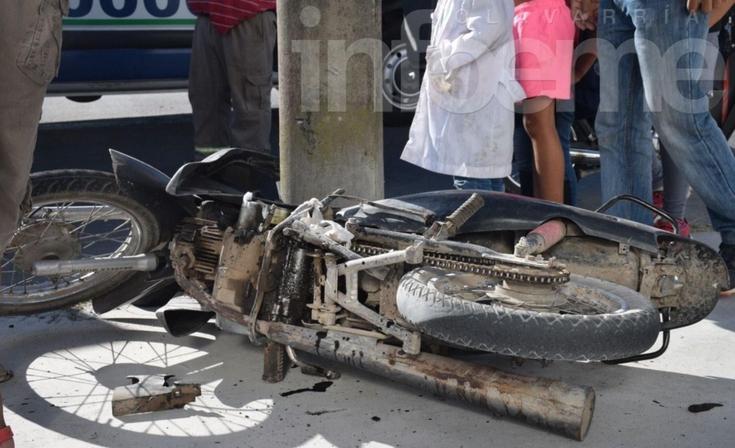 Un motociclista resultó herido de consideración tras un accidente