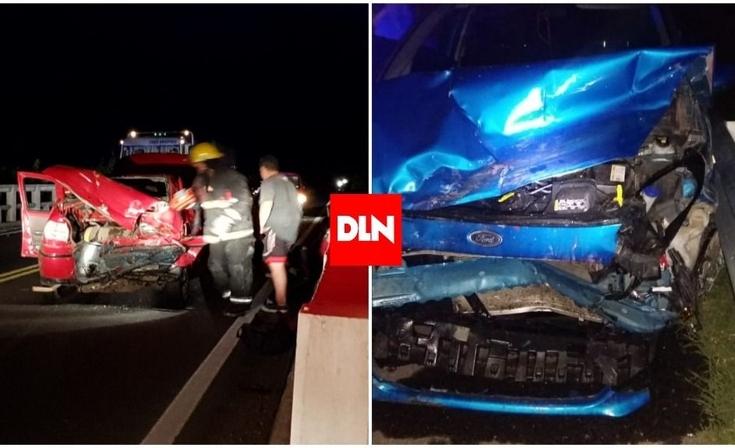 Tres olavarrienses heridos en un violento accidente en Ruta 215