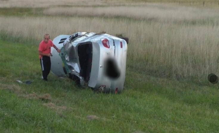 Dirigente azuleña se accidentó en la Ruta 3