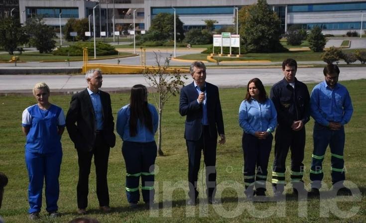 Macri en Olavarría: visita a L'amalí y ¿anuncio? al final del recorrido