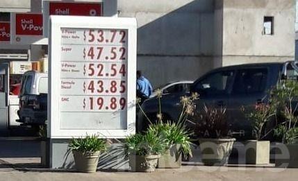 Aumentaron los combustibles y en Laprida la Infinia cuesta $50