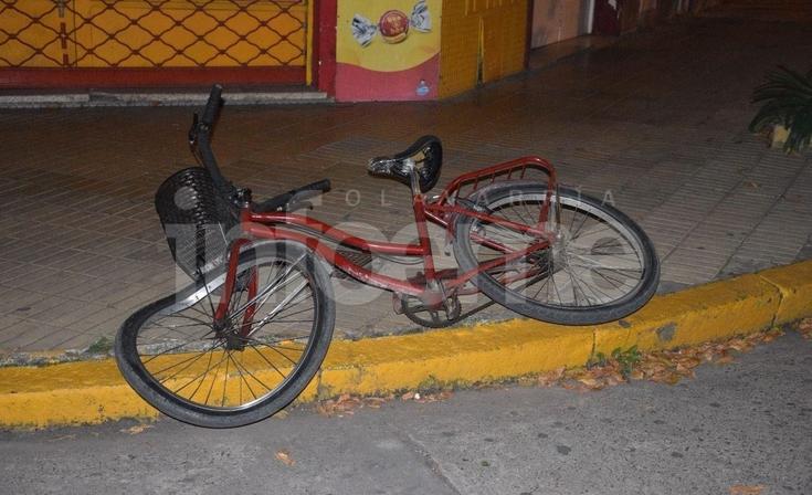 Accidente en Microcentro: una ciclista herida