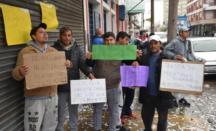 Trabajadores del Matadero realizaron un escrache