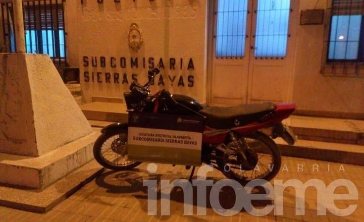 Secuestran una camioneta y una moto en Sierras Bayas