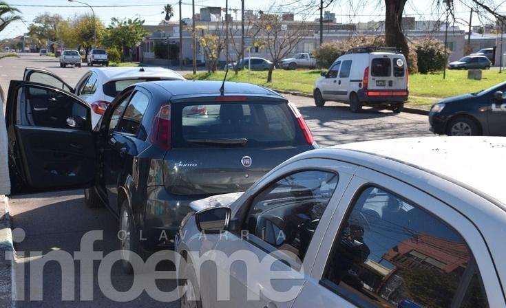 Tres autos protagonizaron un choque en fila