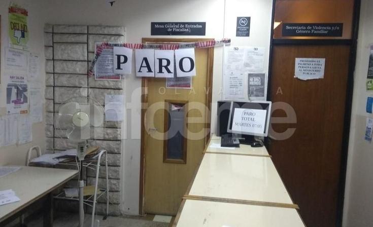 El paro de judiciales se siente en Olavarría