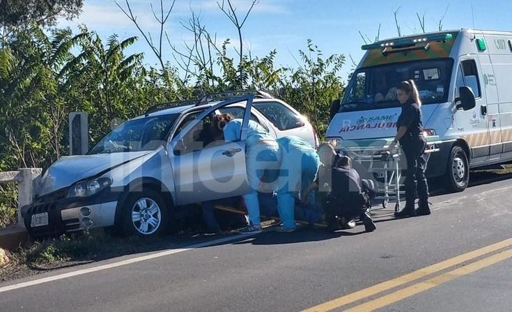 Violento accidente sobre la  ruta 226: un hombre herido