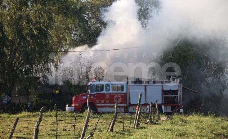 Incendio de una garrafa alcanzó a una vivienda y generó preocupación