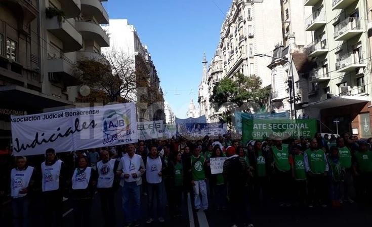 Jornada de protesta de trabajadores judiciales