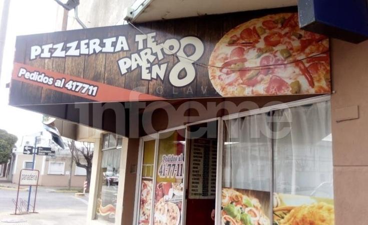 Violentaron una reja y robaron dinero en una pizzería