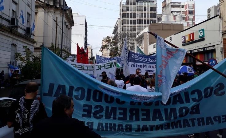 """Judiciales se movilizaron y reclamaron """"convocatoria a paritarias"""""""