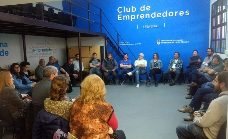 El Club Emprendedores festeja su primer año con una peña