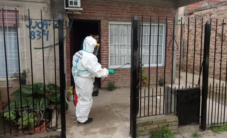 Policía Ecológica realiza tareas antiCovid19 en allanamientos